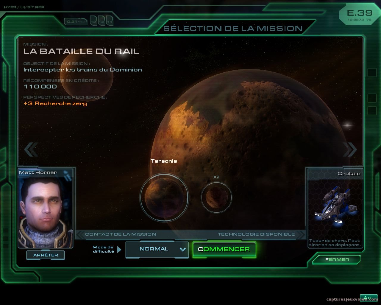 Capture d'écran - Starcraft 2 - Avant mission briefing