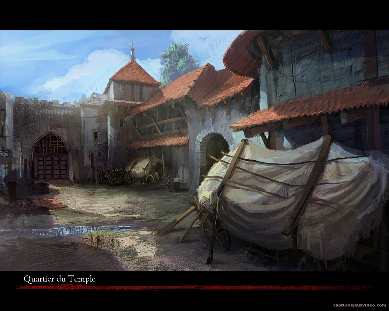Quartier du temple Ecran de chargement - The witcher capture image
