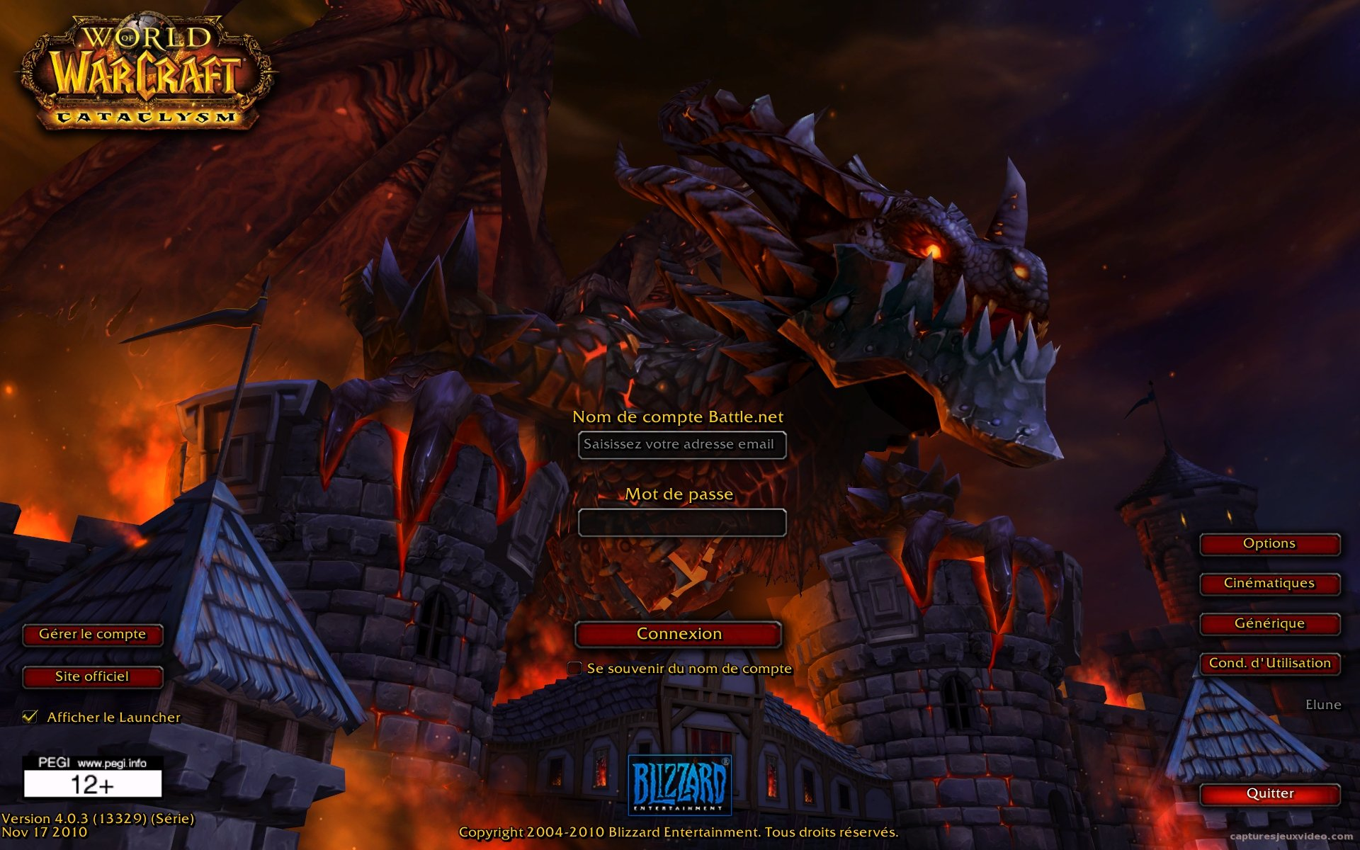 Ecran de lancement world of warcraft cataclysm screenshot wallpaper 0046